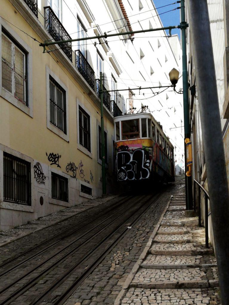 Tram 28 in Lisboa, Portugal