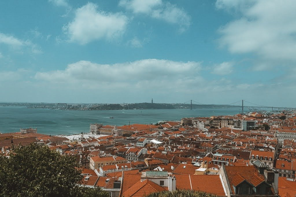 Viewpoint  of Lisbon from Castelo San Jorge