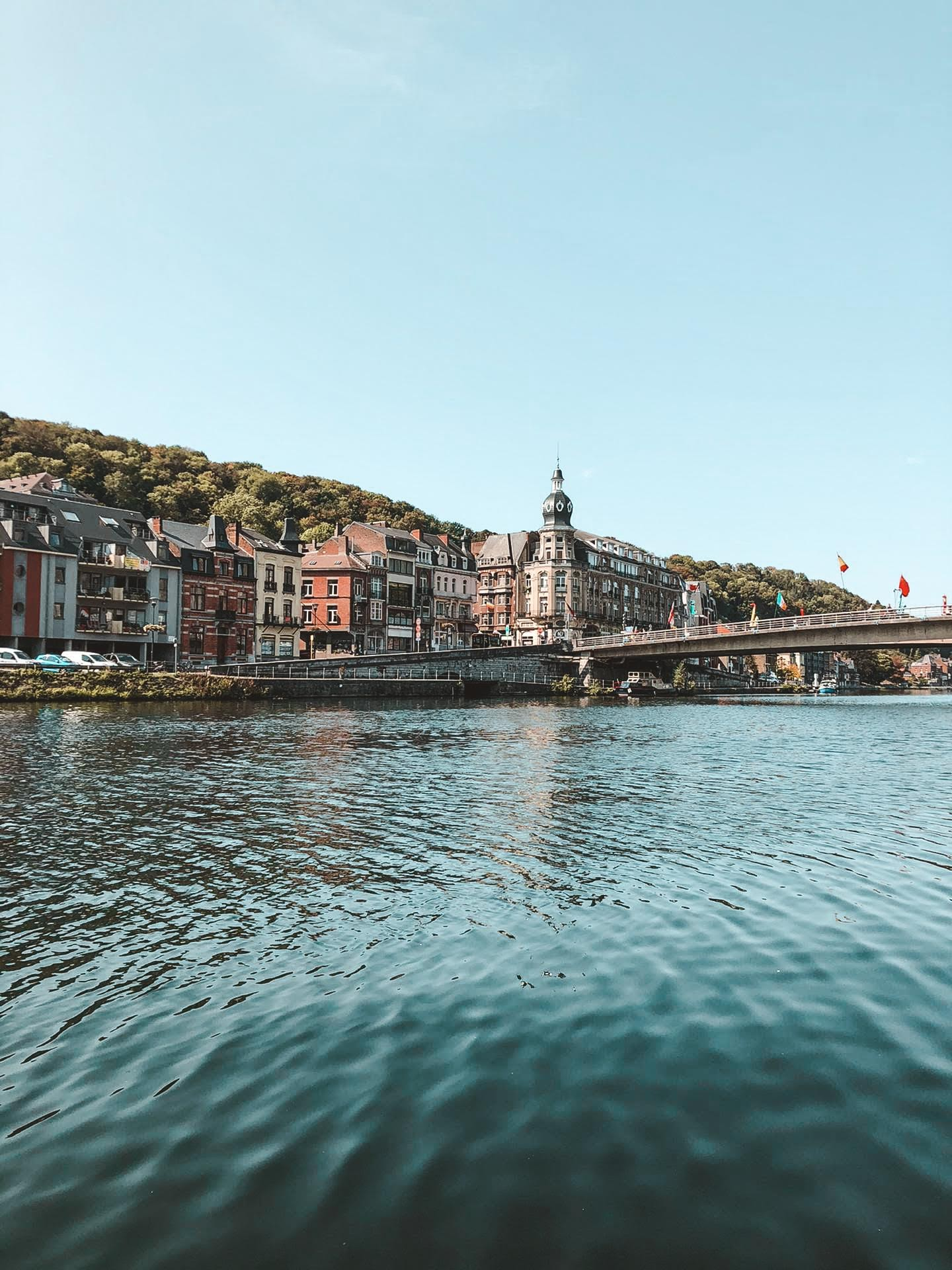 Dinant, Wallonia, Belgium and the Meuse River