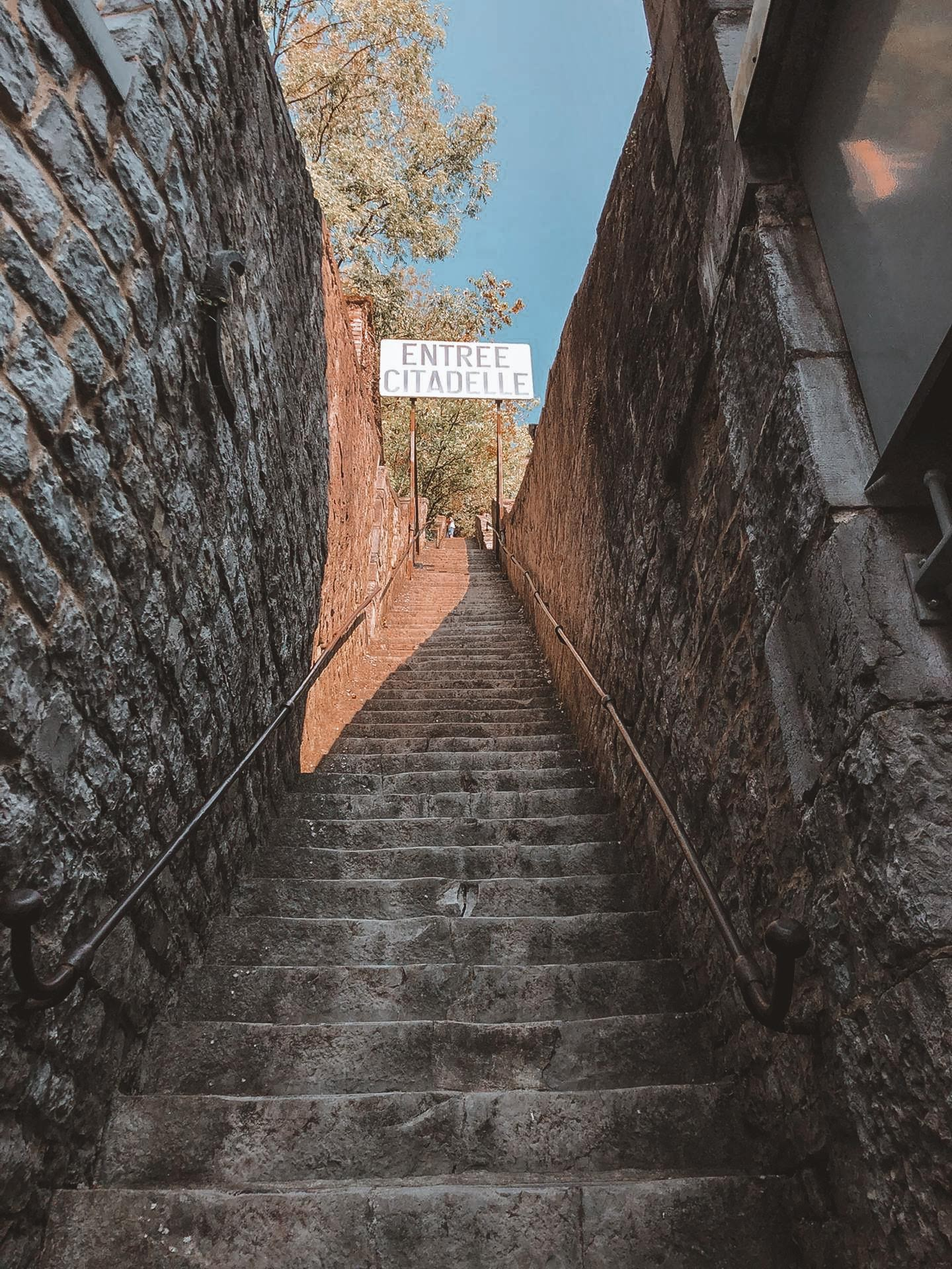 Steps to the Citadelle de Dinant