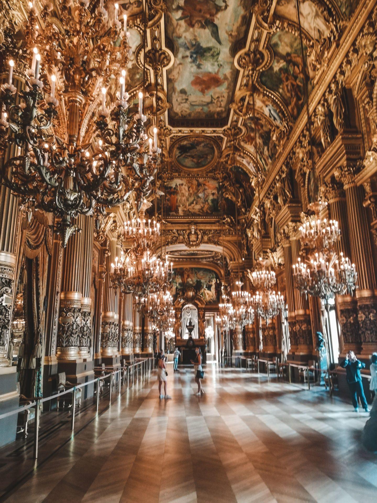 the golden Foyer at Palais Garnier, the opera of Paris