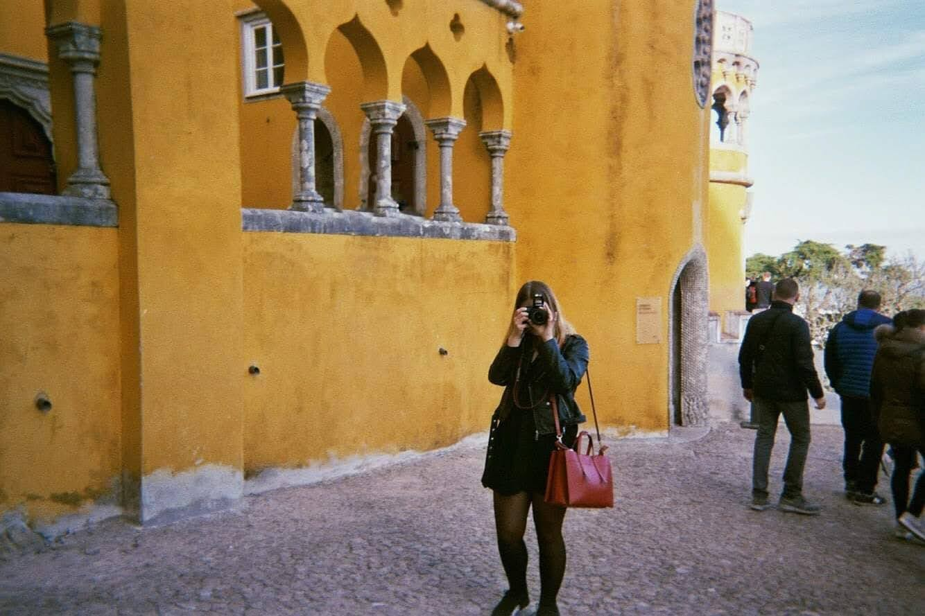 Girl in sintra, Portugal, photography gear of travel blogger